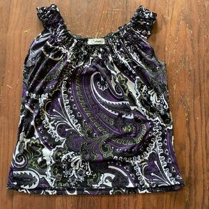 Cute stretchy tank blouse